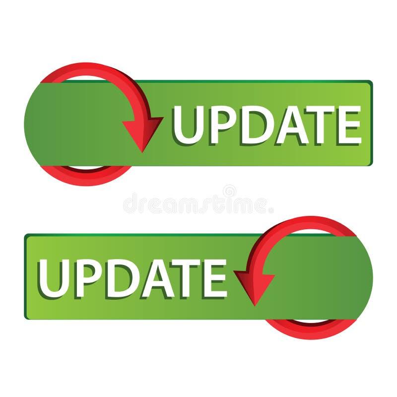 Aktualisierungs-Netzknopfsatz Grüne Taste vektor abbildung