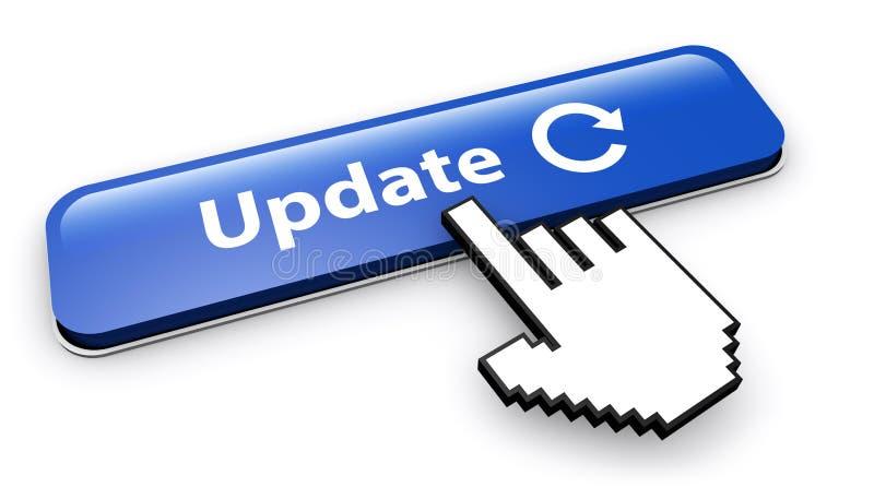 Aktualizaci ikona Na sieć guziku I znak royalty ilustracja