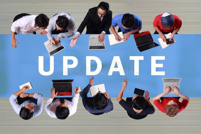 Aktualizacja, Motywacyjny biznes Formułuje wycena pojęcie obraz stock