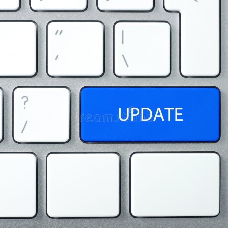 Aktualizacja online twój oprogramowanie obraz stock