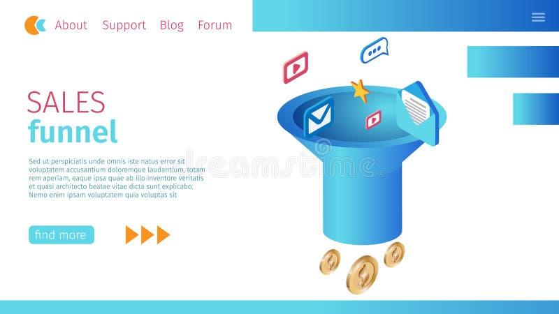 Aktualnej sprzedaży Tulejowej definicji Horyzontalny sztandar ilustracja wektor