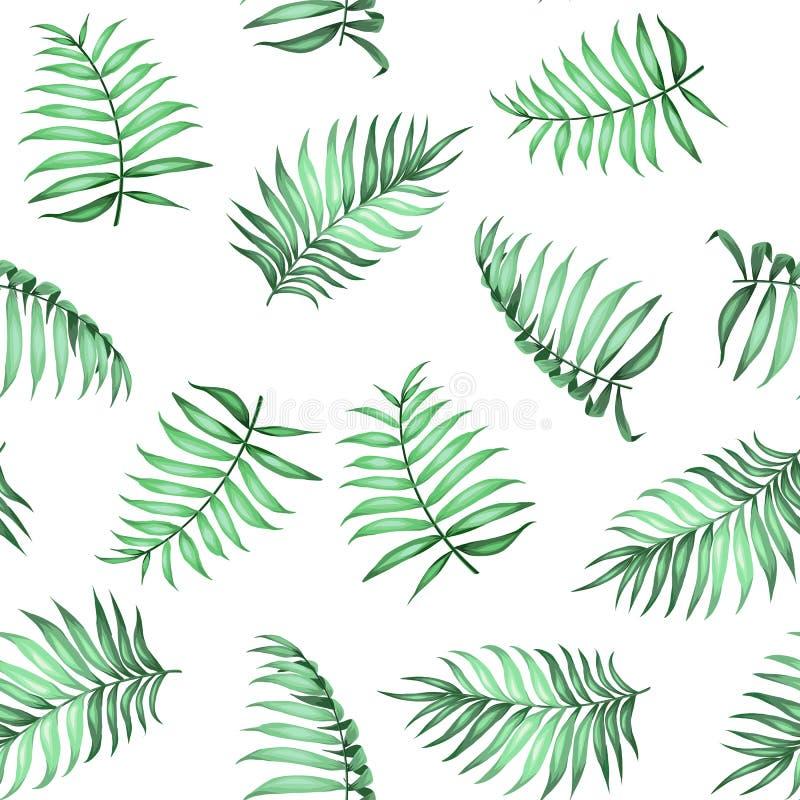 Aktuell palmbladmodell vektor illustrationer