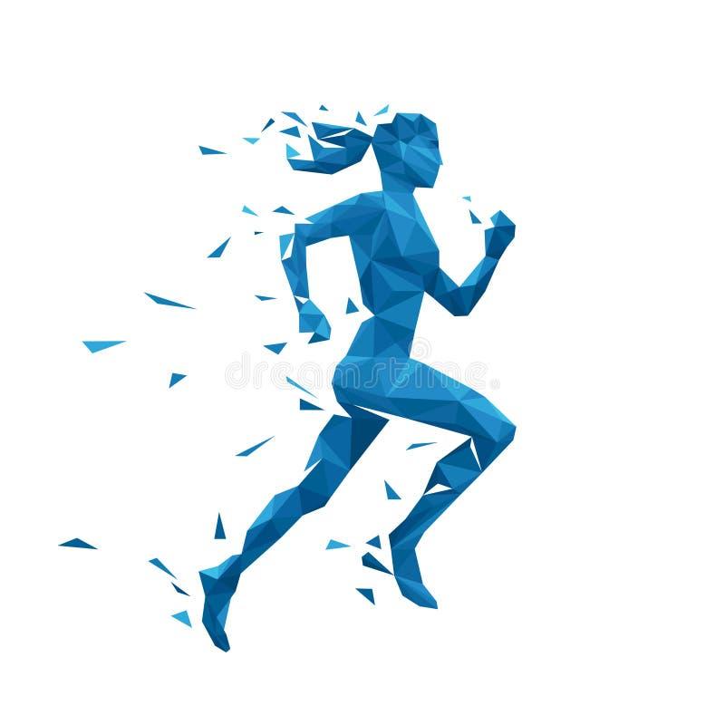 Aktywna działająca kobieta wektoru ilustracja Energetyczny jogging projekt ilustracja wektor