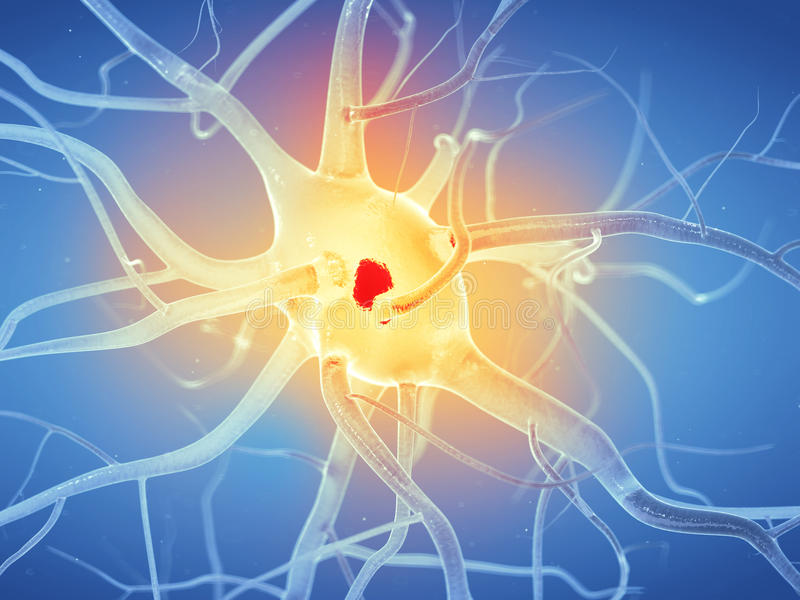 Aktywna nerw komórka royalty ilustracja