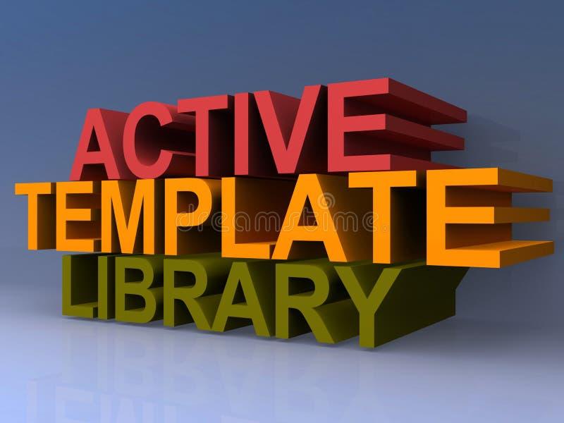 Aktywna szablon biblioteka ilustracja wektor