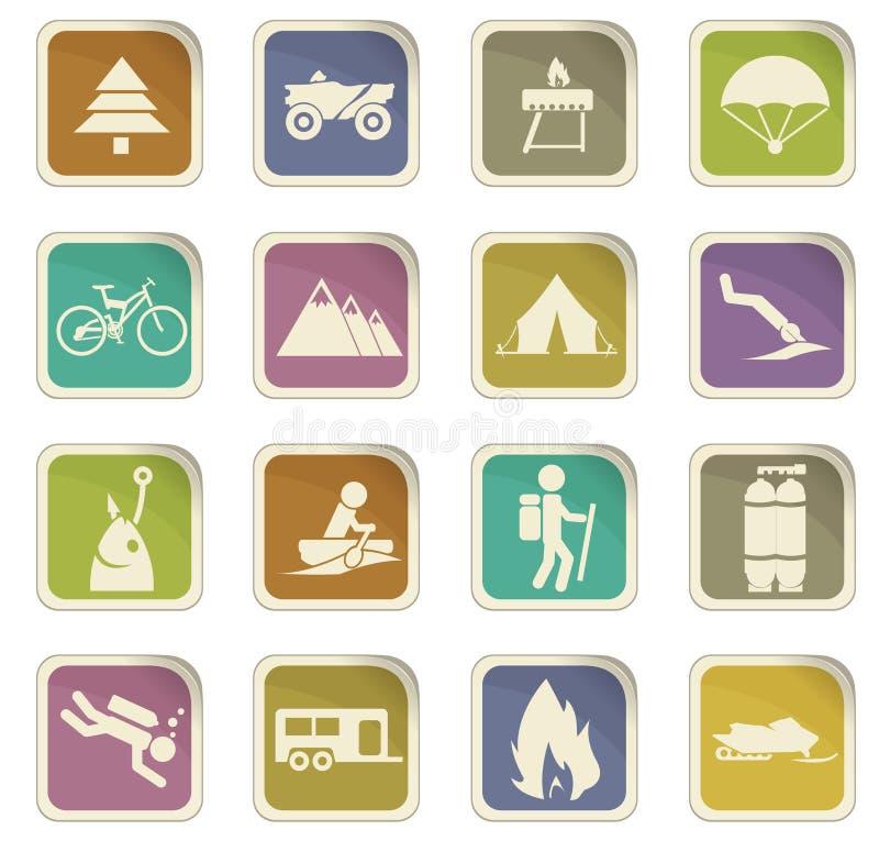 Aktywne rekreacyjne ikony royalty ilustracja