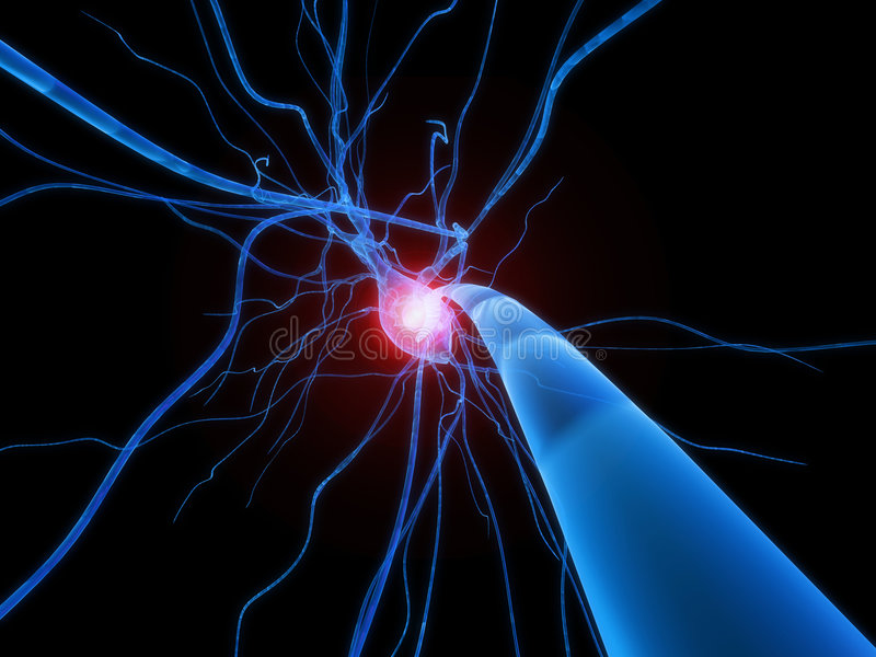 aktywnej komórki nerw ilustracji