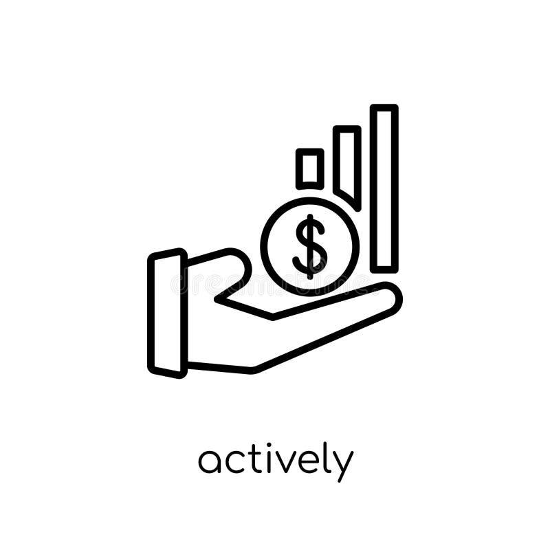 Aktywnie kierująca fundusz ikona  ilustracji