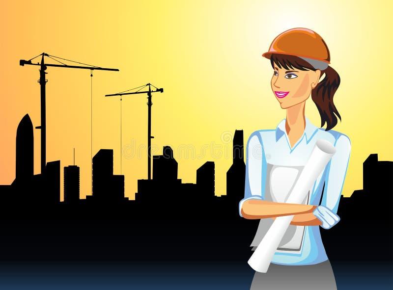 aktywności budynku kobieta ilustracji