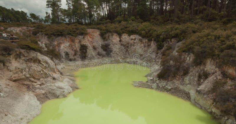 Aktywny Geotermiczny teren fotografia stock