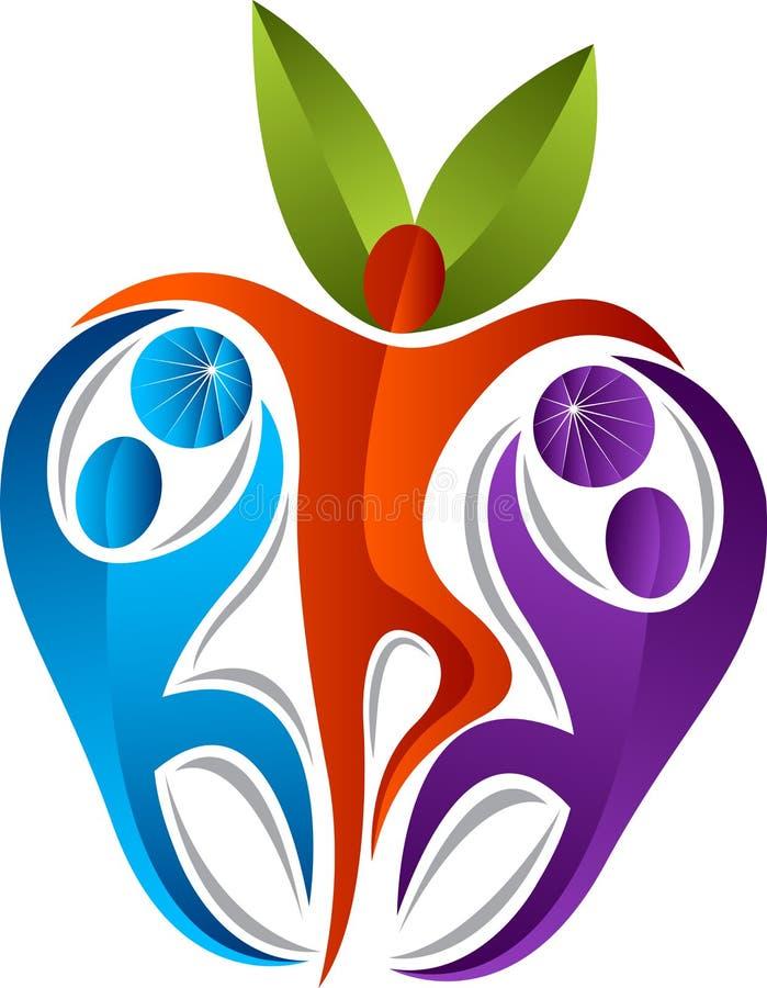aktywny jabłczany logo royalty ilustracja