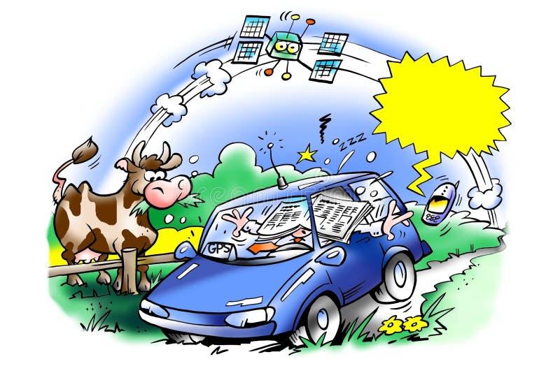 Aktywny rewizi GPS system ilustracja wektor