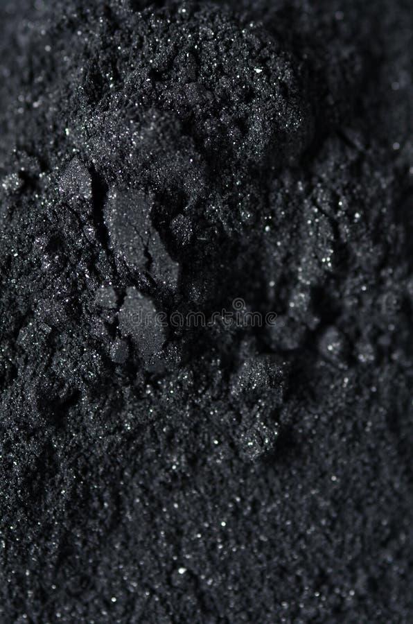 Aktywowany węgla drzewnego proszek zdjęcia stock