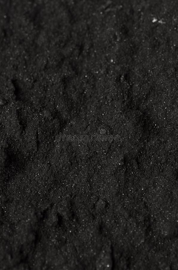 Aktywowany węgla drzewnego proszek zdjęcie stock