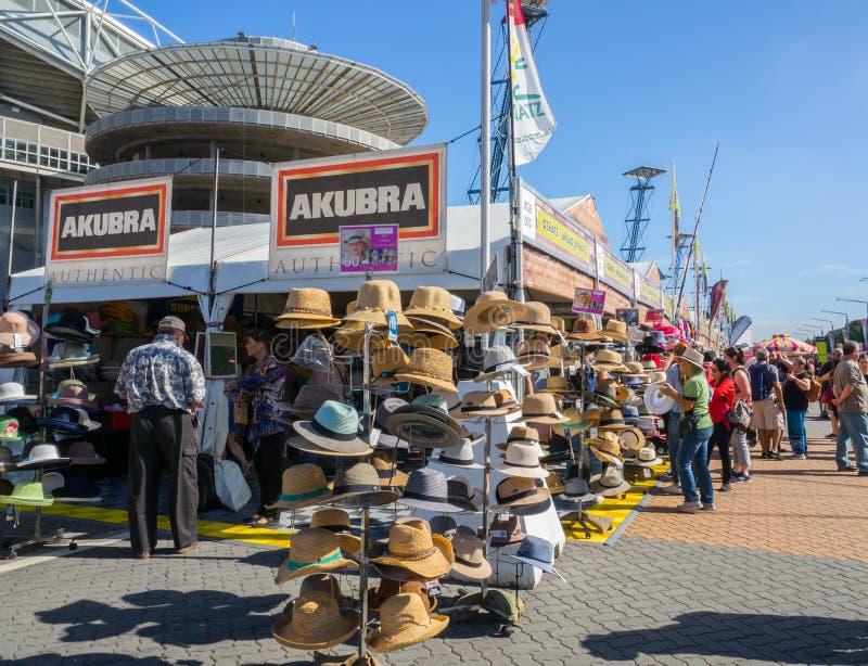 Akubra la tienda hecha australiana famosa e icónica de los sombreros en la demostración de Sydney Easter fotografía de archivo libre de regalías