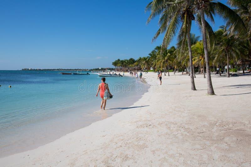 Akumal karibisk strand - Mexico Mayan Riviera royaltyfria bilder