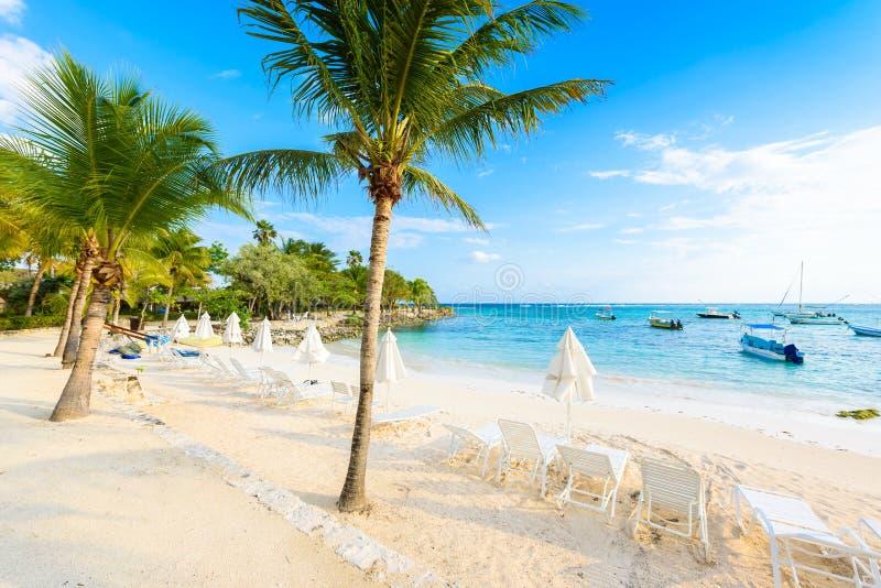 Akumal - paradise bay at Akumal with tropical beach in Quintana Roo, Mexico - turtle beach at caribbean coast stock photography