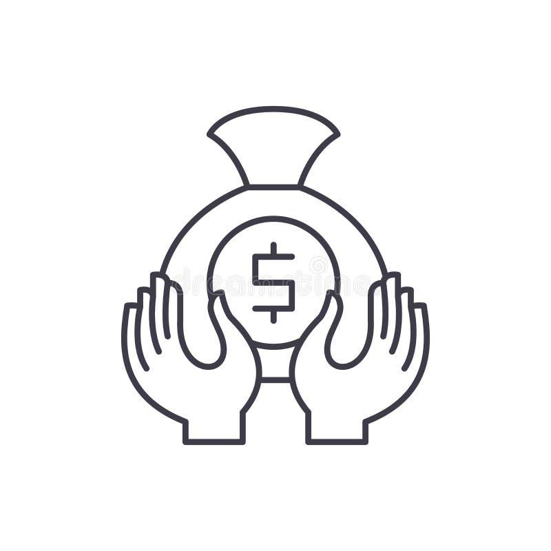 Akumulacji ikony kreskowy pojęcie Akumulacji wektorowa liniowa ilustracja, symbol, znak ilustracja wektor