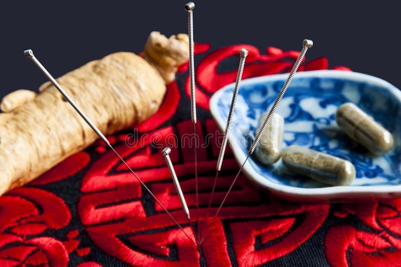 Akupunktur stockfotos