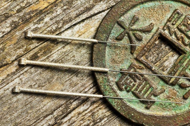 Akupunktur igły obraz royalty free