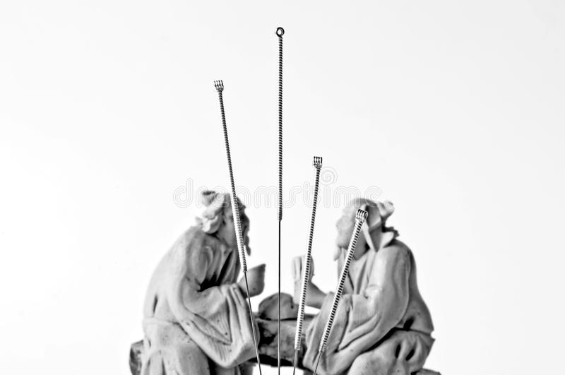 Akupunktur igły fotografia royalty free