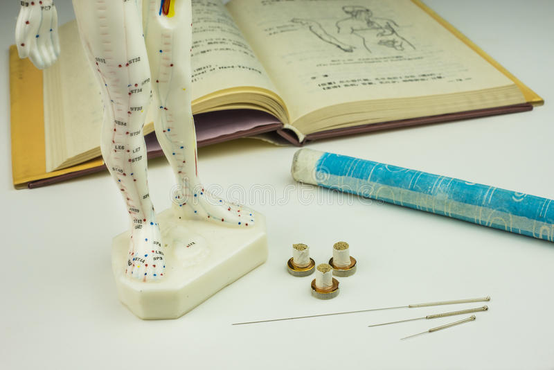 Akupunktur igły zdjęcia stock