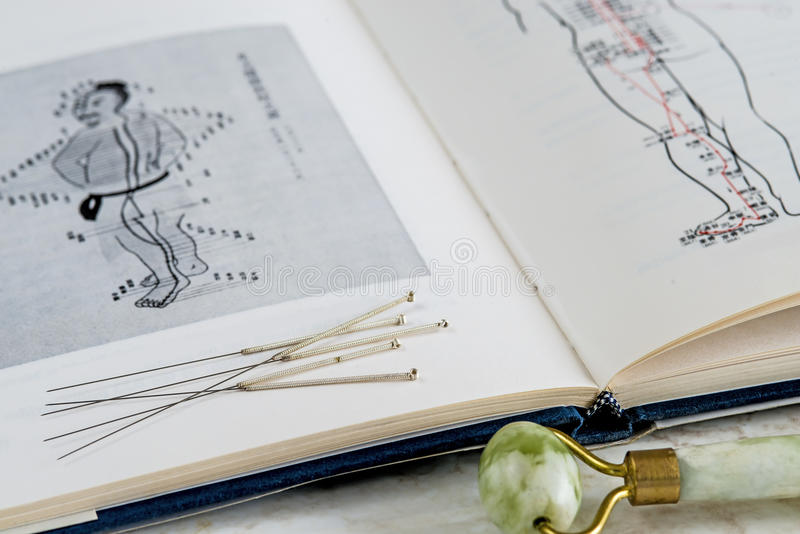 Akupunktur igły obraz stock