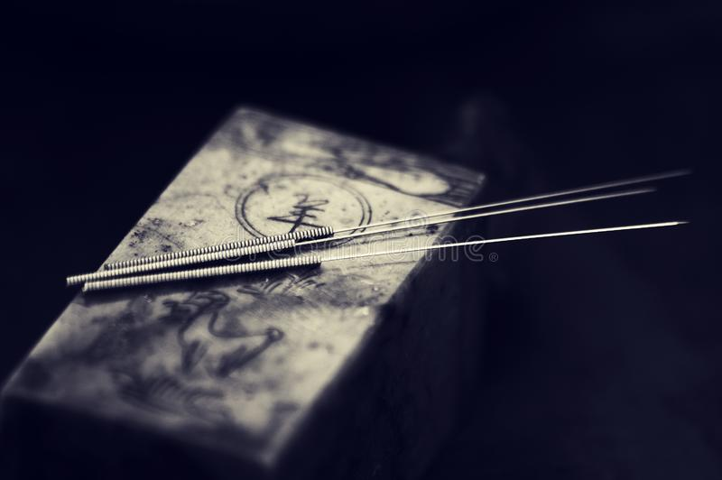 Akupunktur igieł Chińska medycyna zdjęcia stock