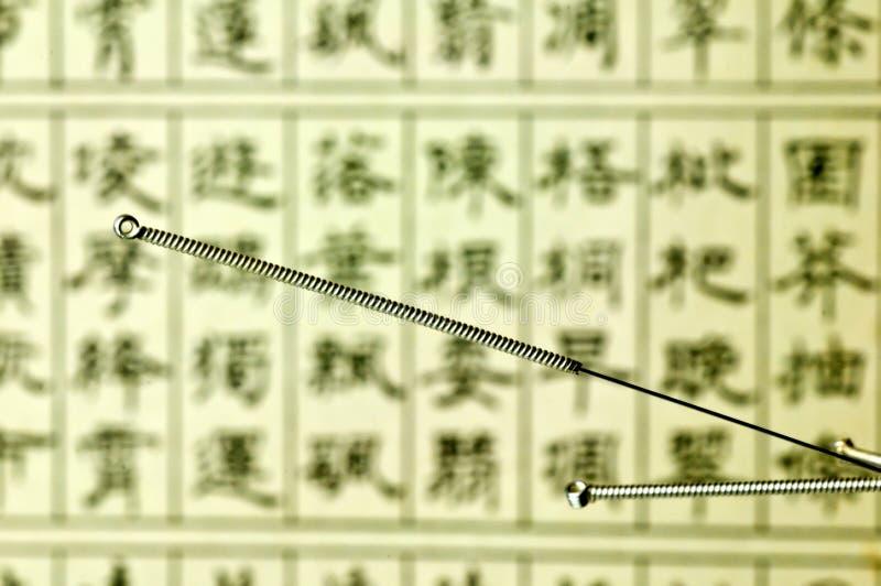 Akupunkturnadel lizenzfreie stockbilder