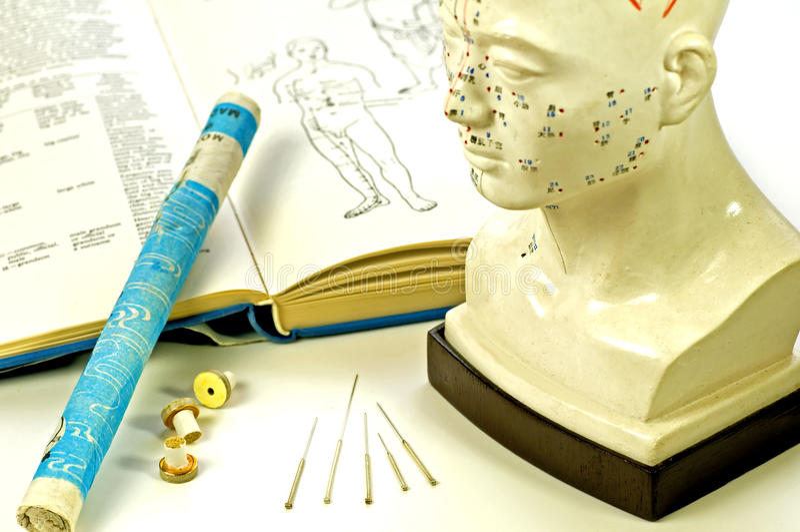 Akupunkturnadeln stockbild