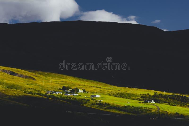 Akureyri, IJsland stock fotografie