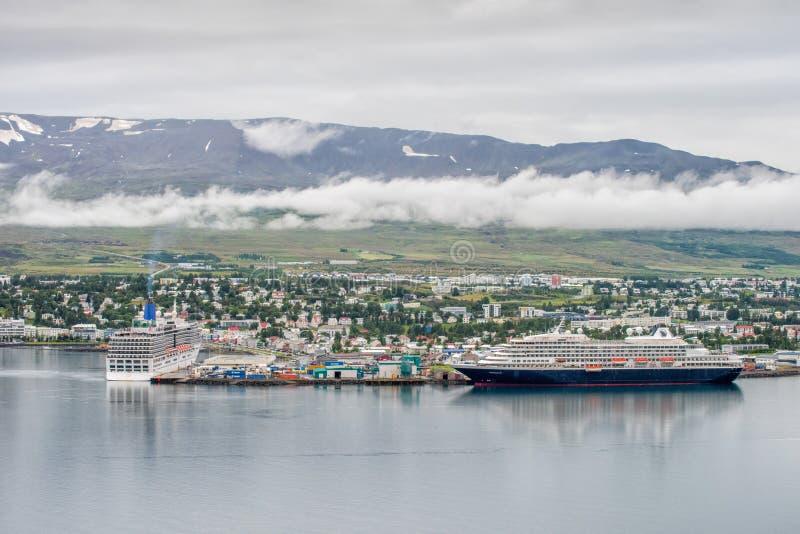 Akureyri, IJsland stock foto