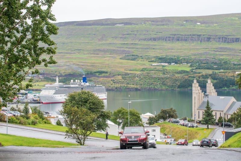 Akureyri Island royaltyfri fotografi