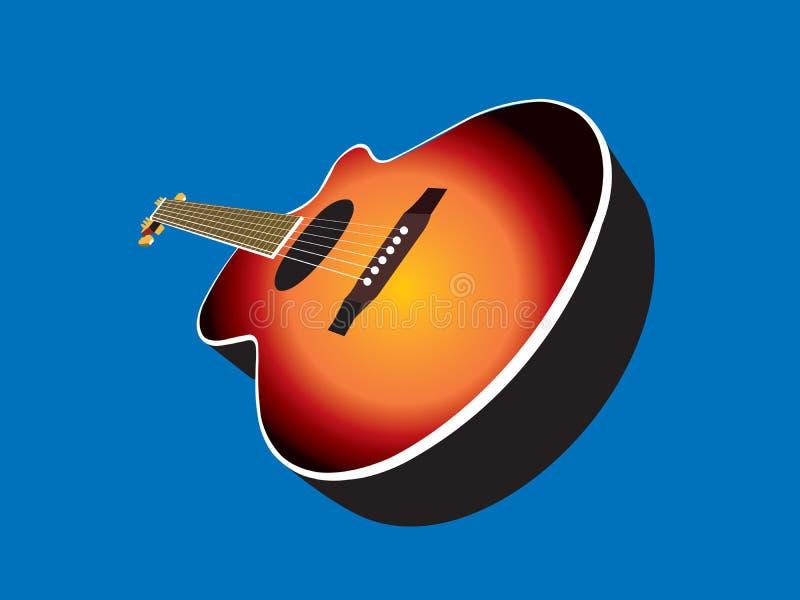 Akustikgitarre stock abbildung