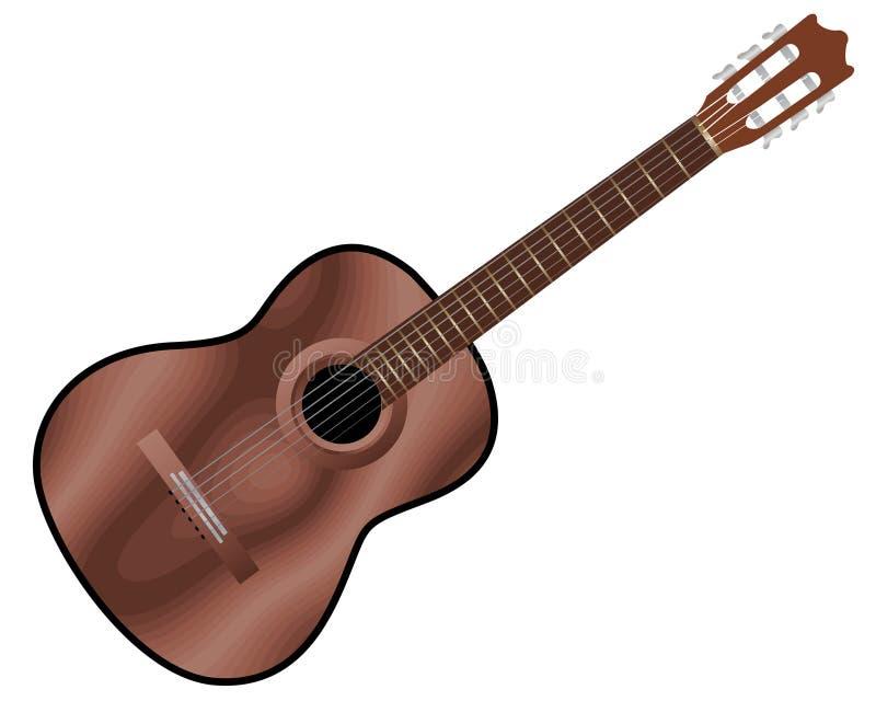 Akustikgitarre lizenzfreie abbildung