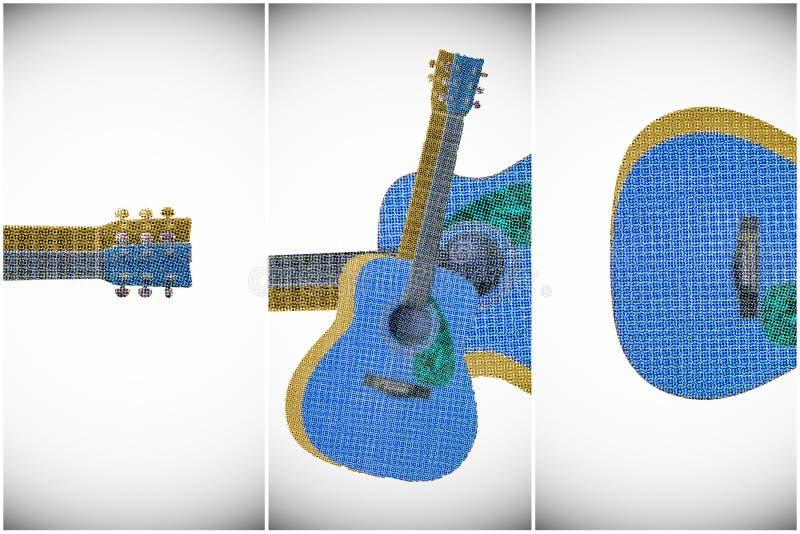 Akustikgitarreillustration stock abbildung