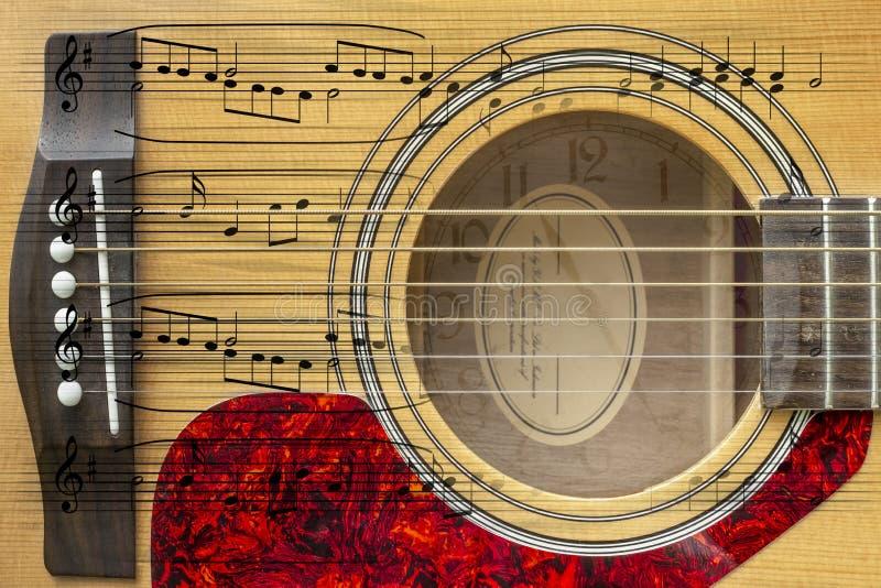 Akustikgitarremontage lizenzfreie abbildung