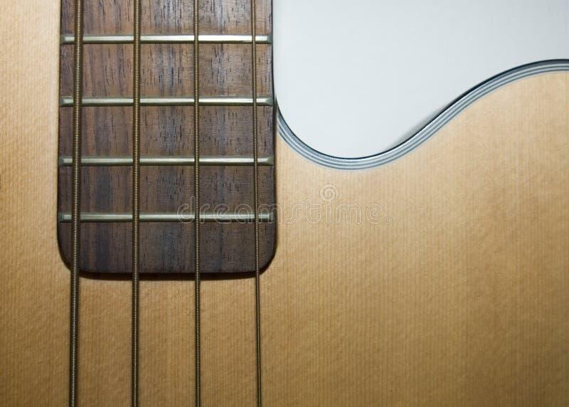 Akustische Baß-Gitarre lizenzfreies stockfoto