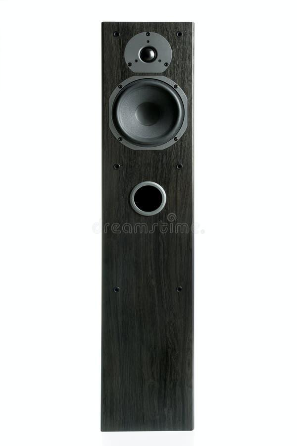 Akustisches Hauptsystem (dunkle Eichenbeschaffenheit) stockbilder