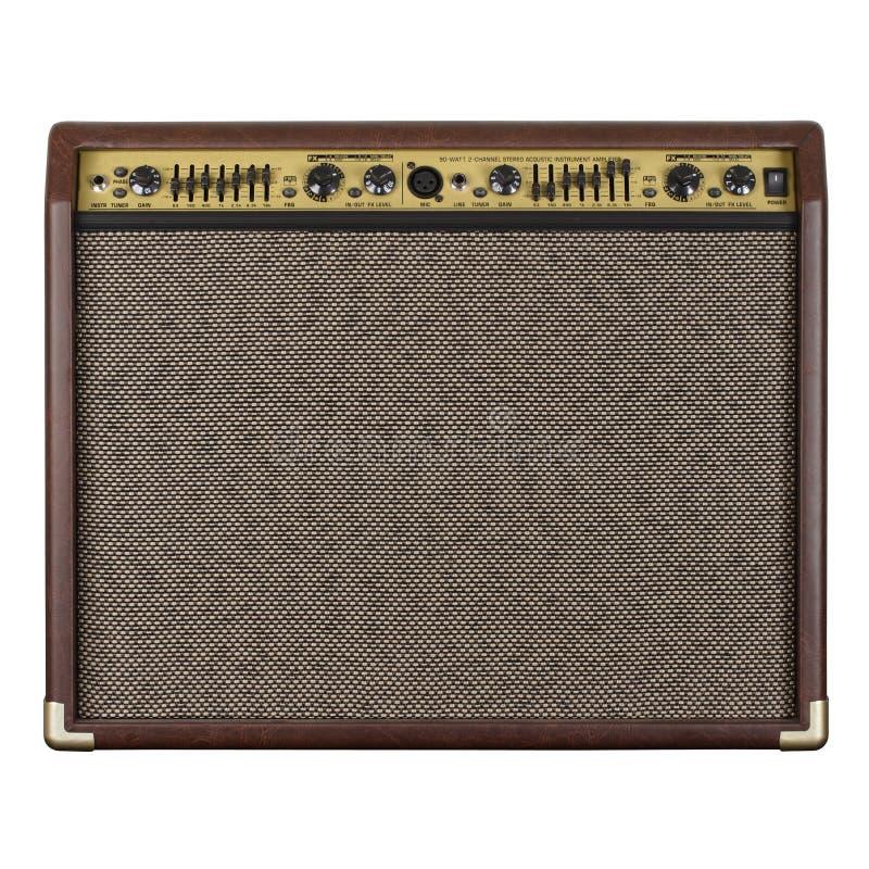 akustisk förstärkaregitarr arkivfoto