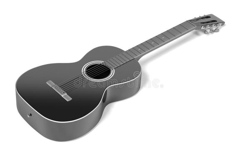 akustisk gitarr royaltyfri illustrationer