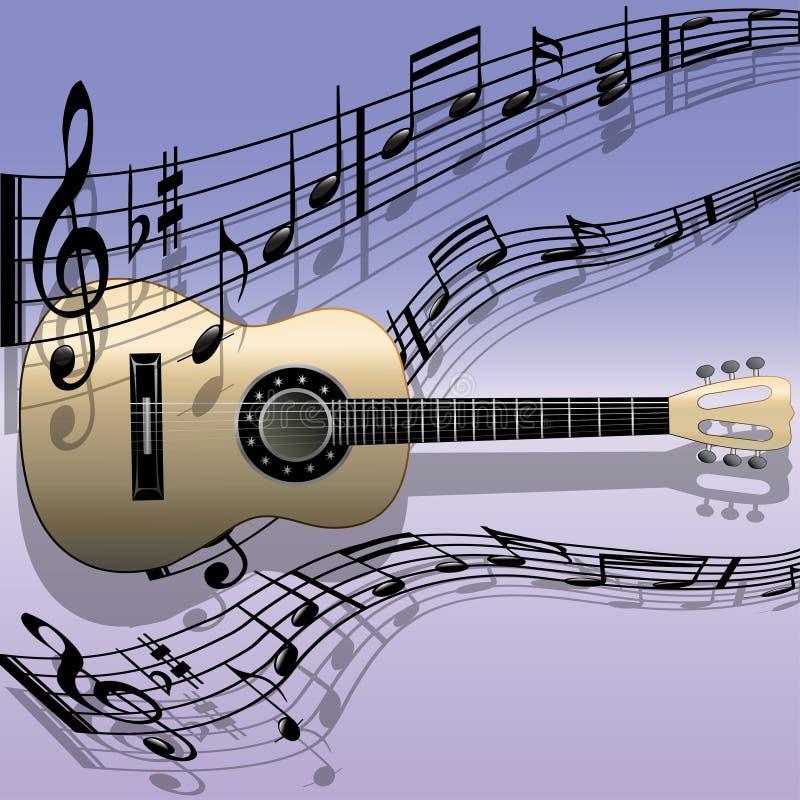 akustisk gitarrmelodi vektor illustrationer