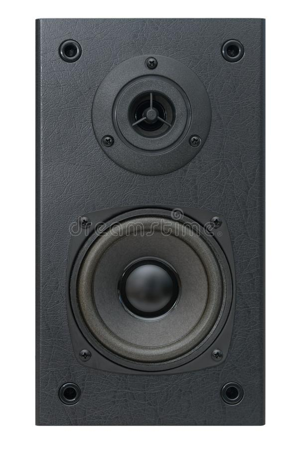 Akustisk högtalare med två högtalare fotografering för bildbyråer