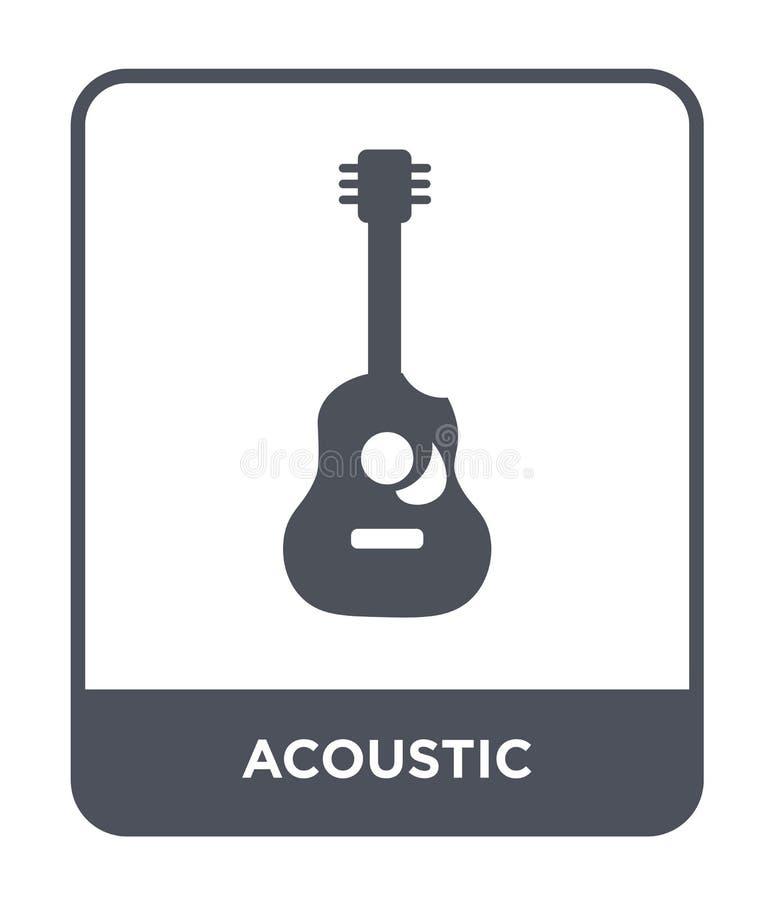 akustisk symbol i moderiktig designstil akustisk symbol som isoleras på vit bakgrund enkel och modern lägenhet för akustisk vekto vektor illustrationer