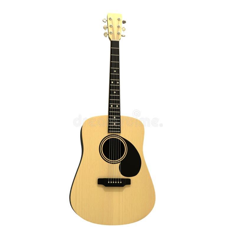 Akustiskt gitarr isolerat på vit bakgrund royaltyfria foton