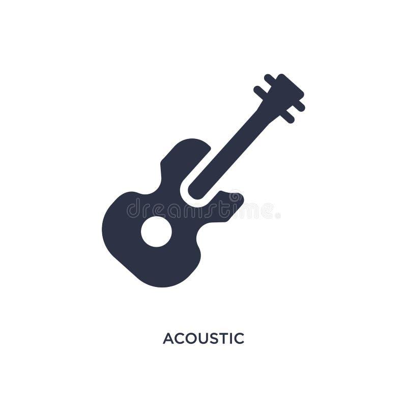 akustyczna ikona na białym tle Prosta element ilustracja od muzycznego pojęcia royalty ilustracja