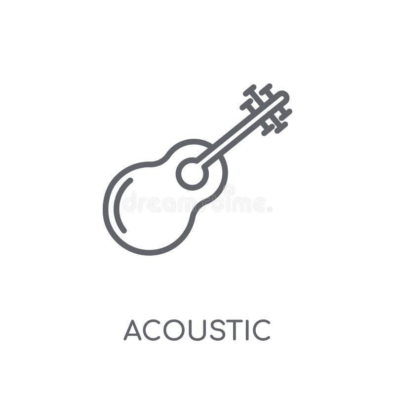 Akustyczna liniowa ikona Nowożytnego konturu logo Akustyczny pojęcie na wh ilustracja wektor