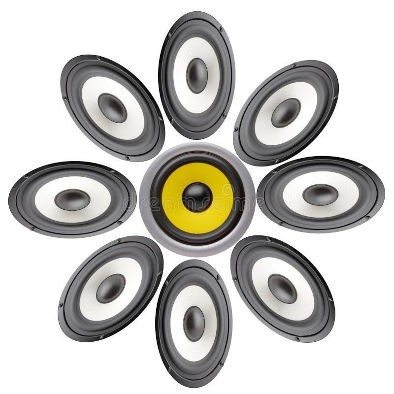 Download Akustyczny system obraz stock. Obraz złożonej z technika - 13339119