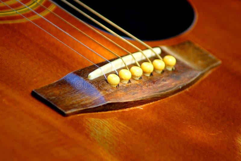Akustyki gitara odpoczywa w ogródzie zdjęcie royalty free