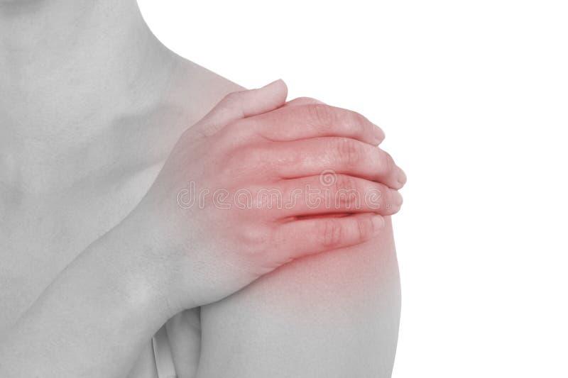 Akute Schmerz in einer Frauenrückseite.  lizenzfreie stockfotos